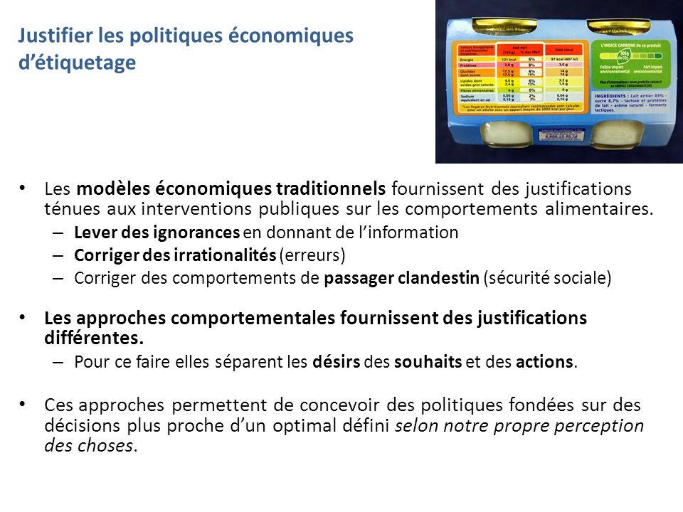Justifier les politiques économiques détiquetage Les modèles économiques traditionnels fournissent des justifications ténues aux interventions publiqu