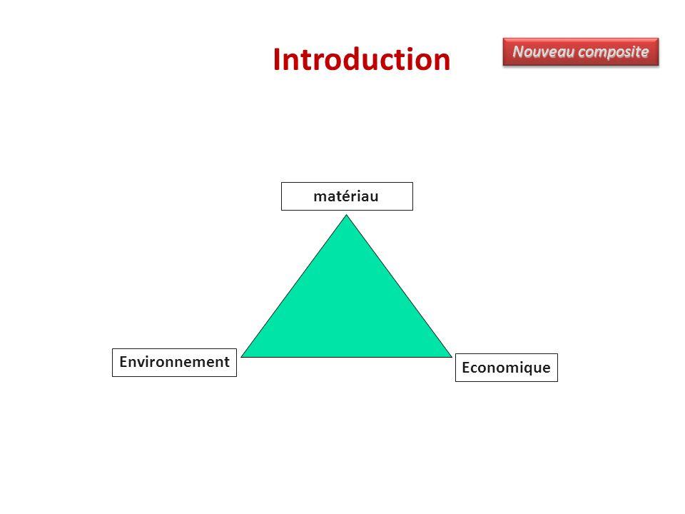 Introduction matériau Environnement Economique Nouveau composite