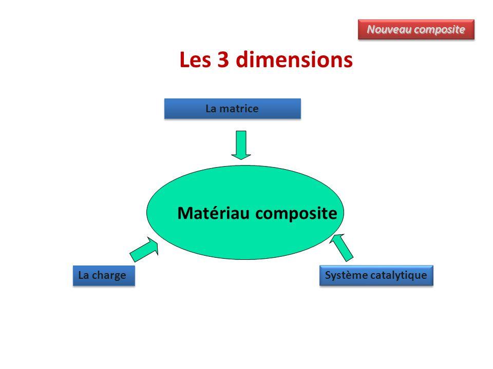 Les 3 dimensions Matériau composite La matrice La charge Système catalytique Nouveau composite