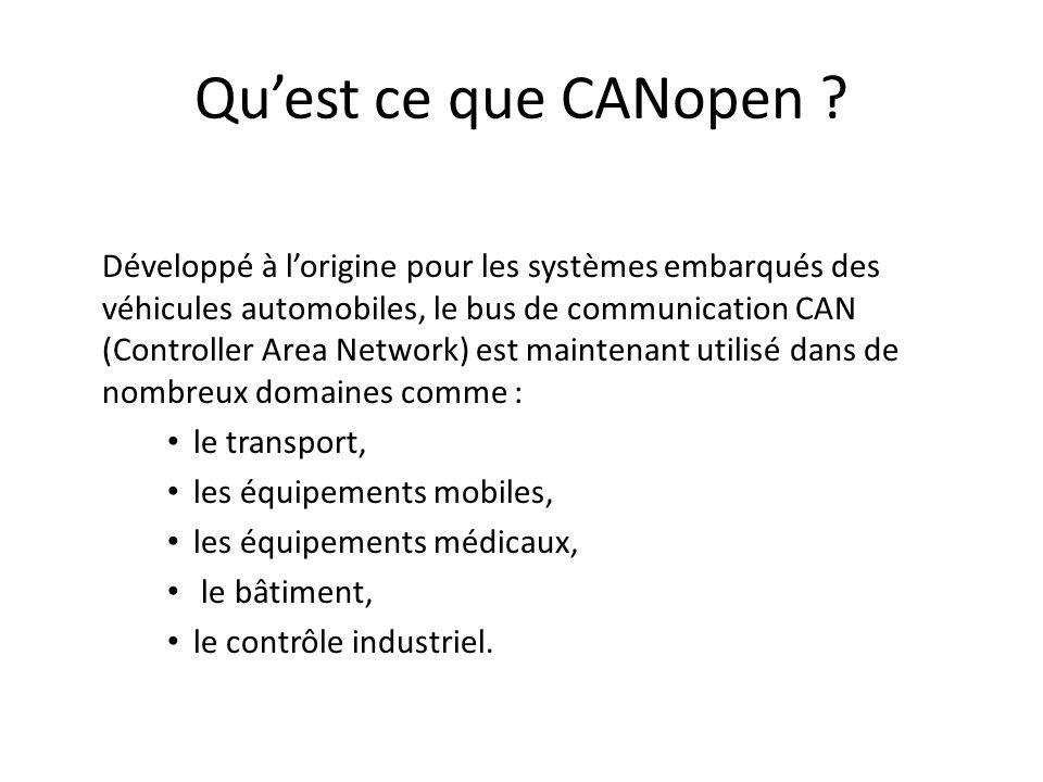 Les points forts du système CAN sont les suivants : – Le système dallocation du bus, – La détection des erreurs, – La fiabilité des échanges de données.