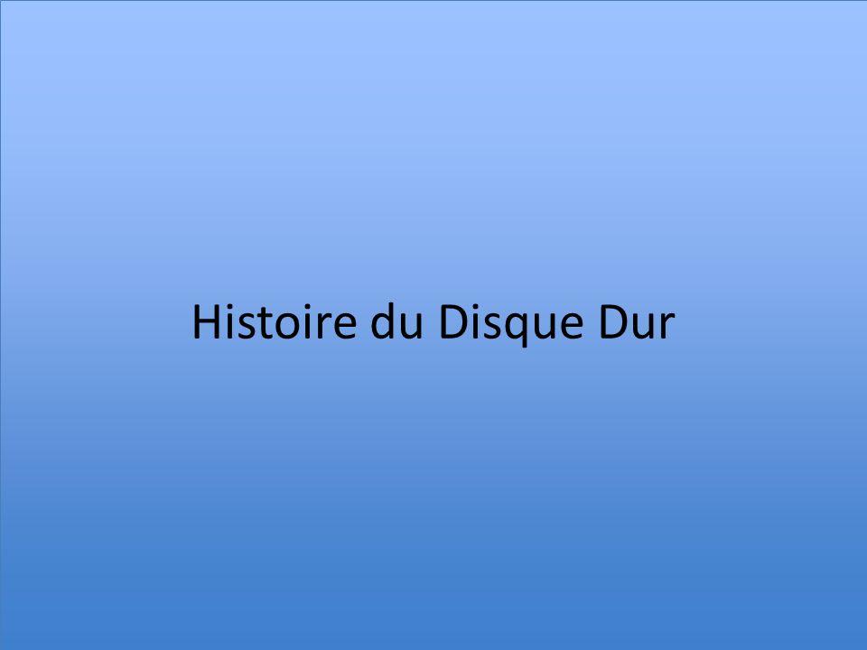 Histoire du Disque Dur