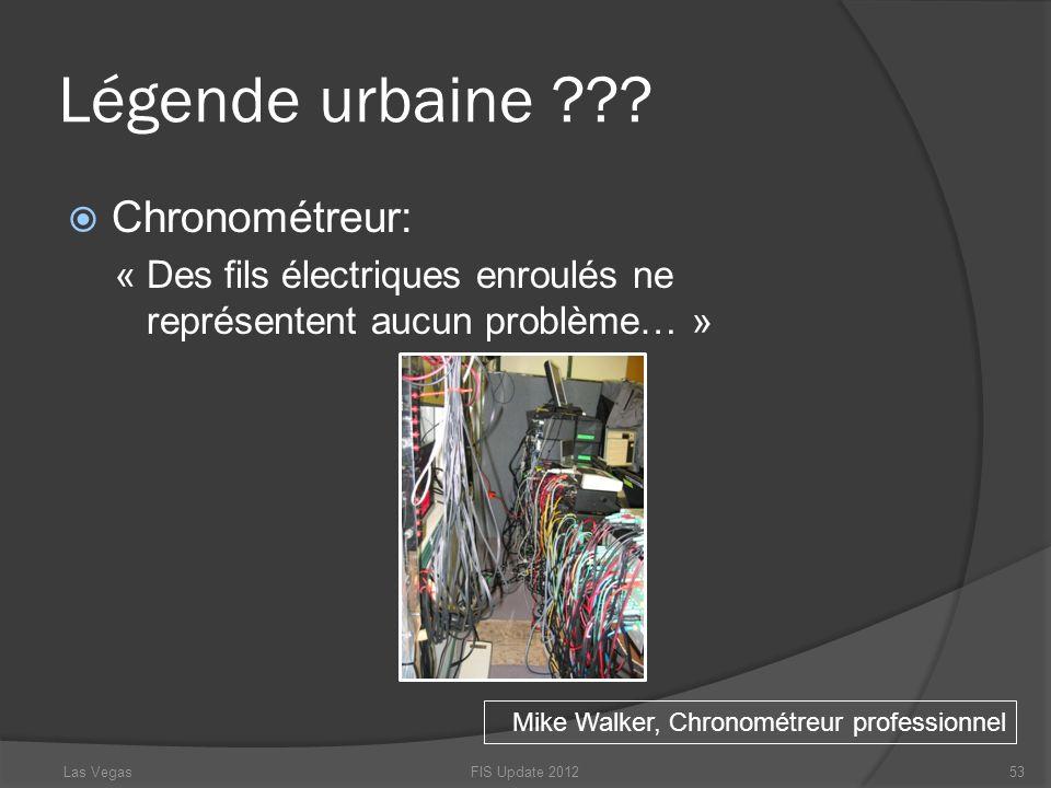 Légende urbaine ??? Chronométreur: « Des fils électriques enroulés ne représentent aucun problème… » FIS Update 201253 Mike Walker, Chronométreur prof