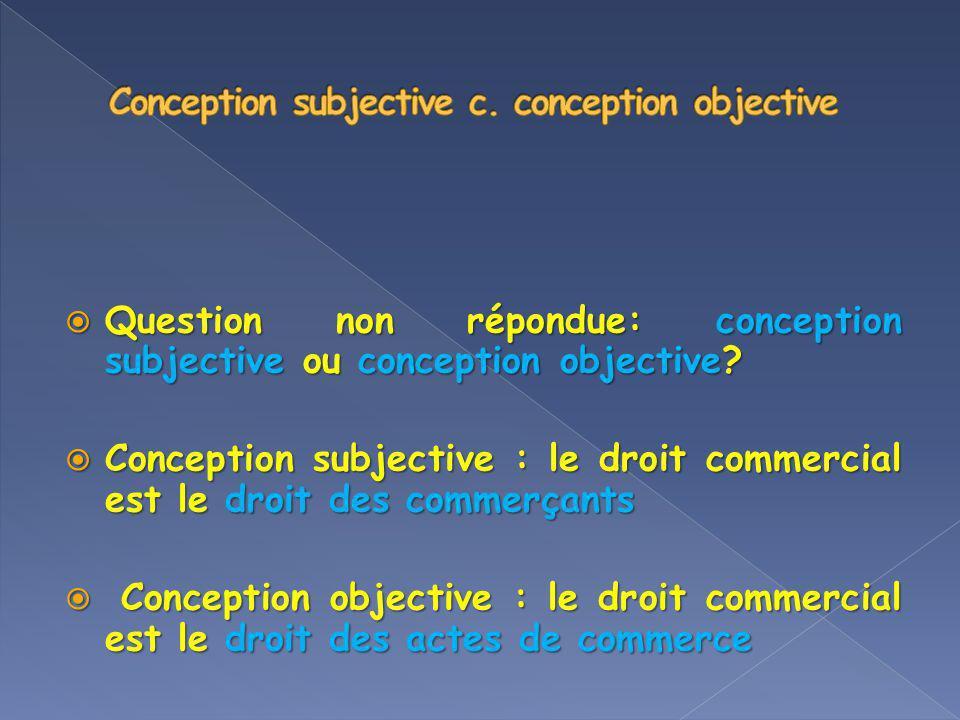 Question non répondue: conception subjective ou conception objective? Question non répondue: conception subjective ou conception objective? Conception
