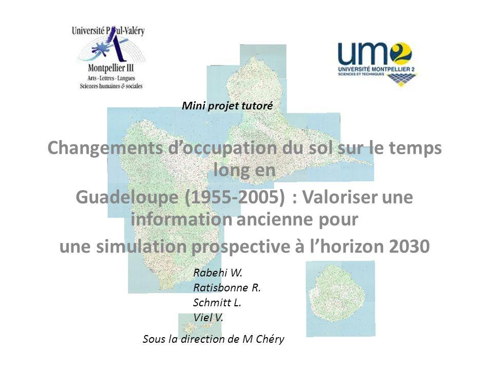 Changements doccupation du sol sur le temps long en Guadeloupe (1955-2005) : Valoriser une information ancienne pour une simulation prospective à lhor
