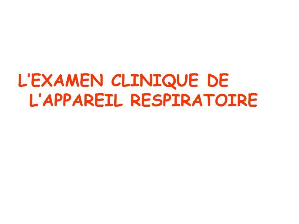 LEXAMEN CLINIQUE DE LAPPAREIL RESPIRATOIRE