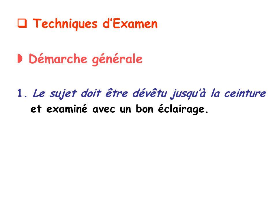 Techniques dExamen Démarche générale 1.