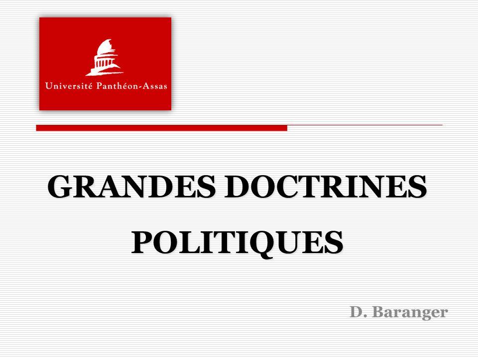 GRANDES DOCTRINES POLITIQUES D. Baranger
