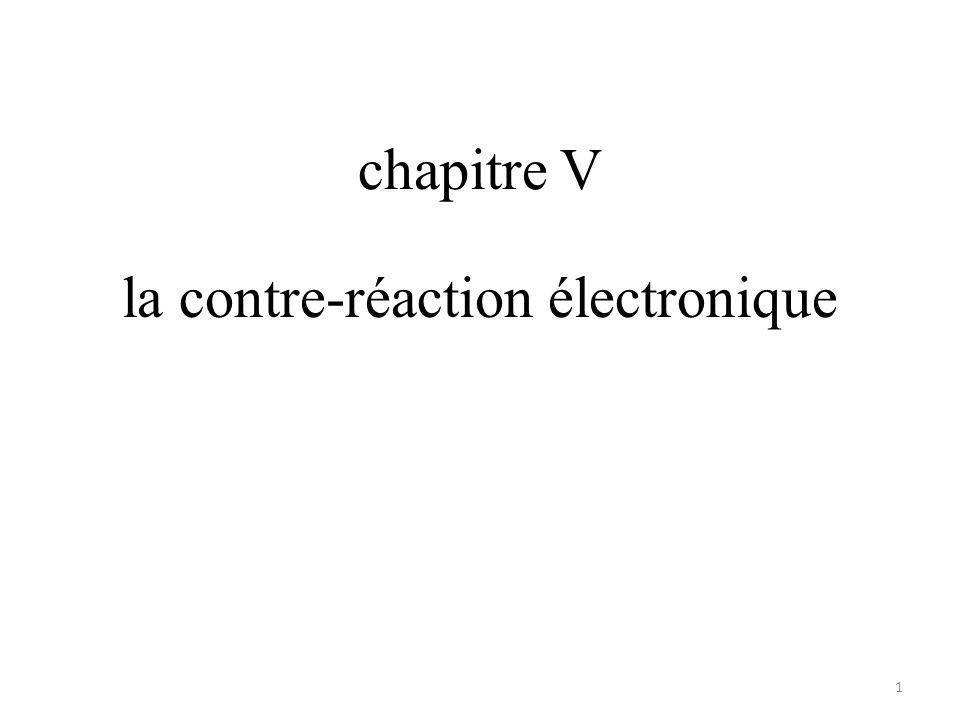 chapitre V la contre-réaction électronique 1