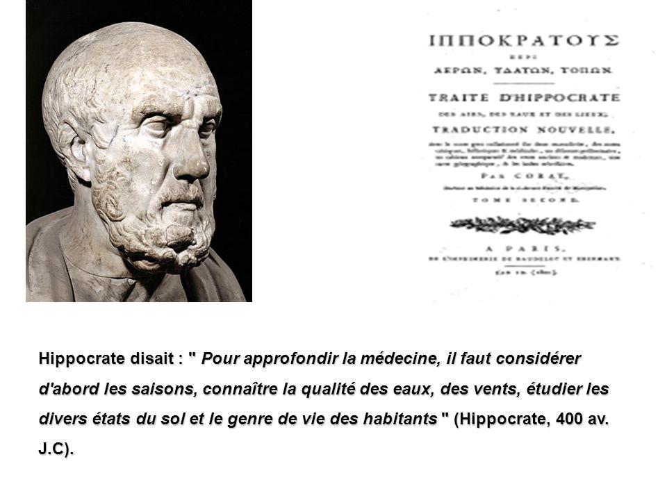 Hippocrate disait :