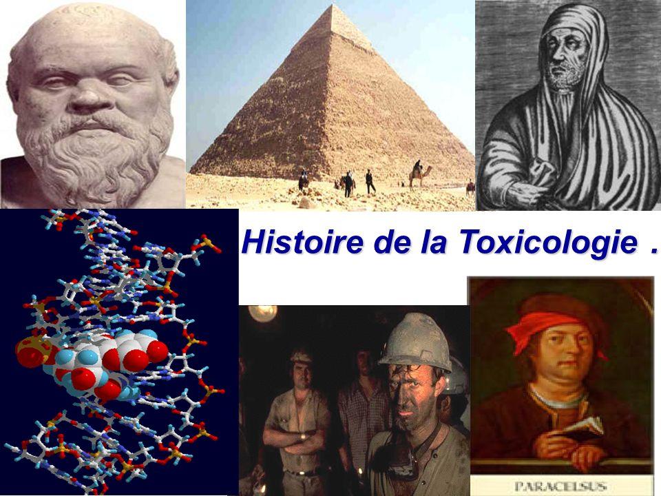 Histoire de la Toxicologie … Histoire de la Toxicologie …