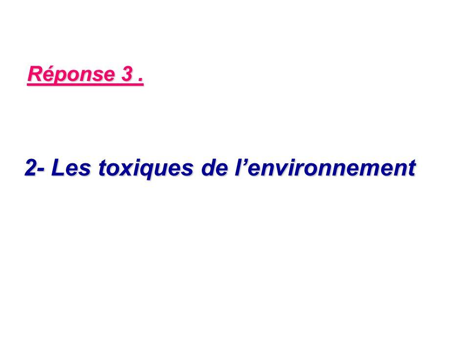 Réponse 3. 2- Les toxiques de lenvironnement