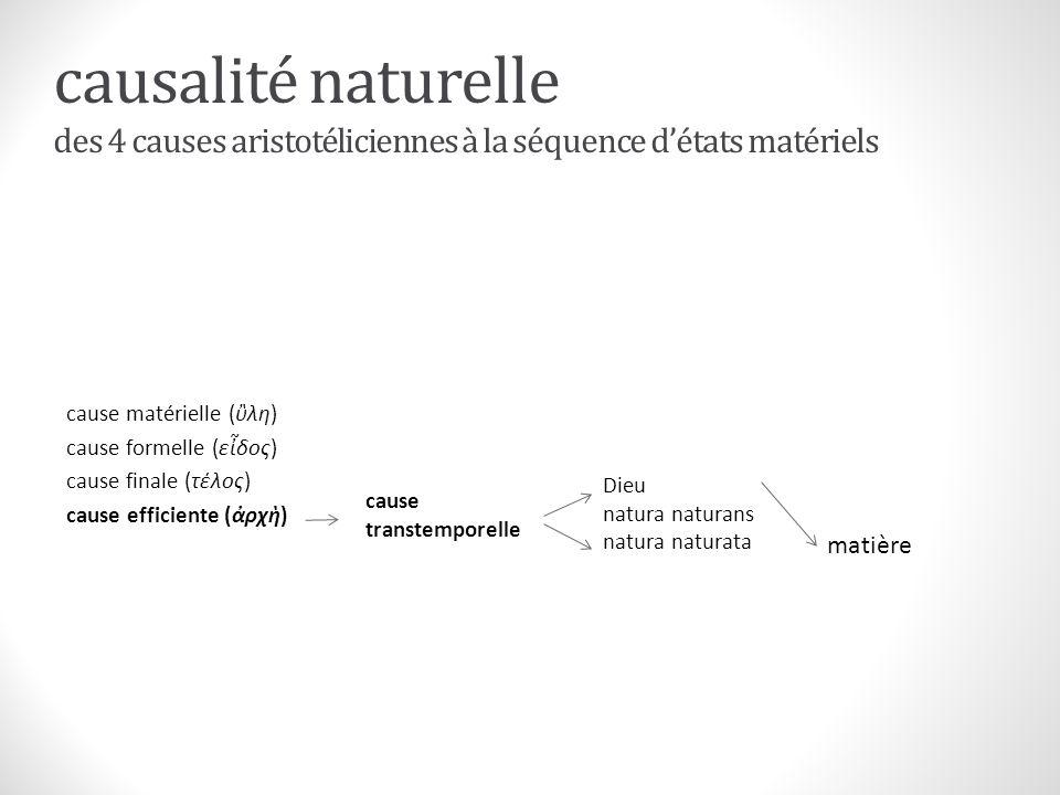 causalité naturelle des 4 causes aristotéliciennes à la séquence détats matériels cause matérielle (λη) cause formelle (εδος) cause finale (τέλος) cau