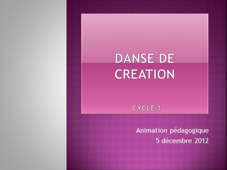 Animation pédagogique 5 décembre 2012