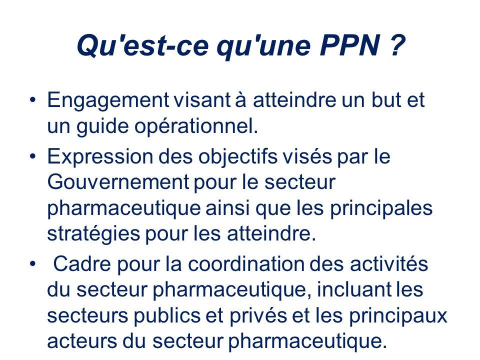 Qu'est-ce qu'une PPN ? Engagement visant à atteindre un but et un guide opérationnel. Expression des objectifs visés par le Gouvernement pour le secte