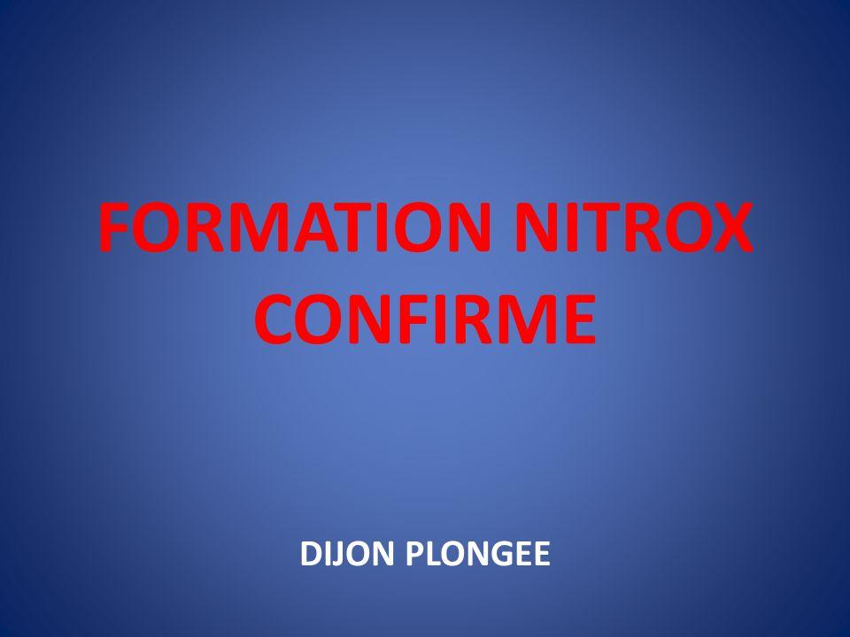 FORMATION NITROX CONFIRME DIJON PLONGEE