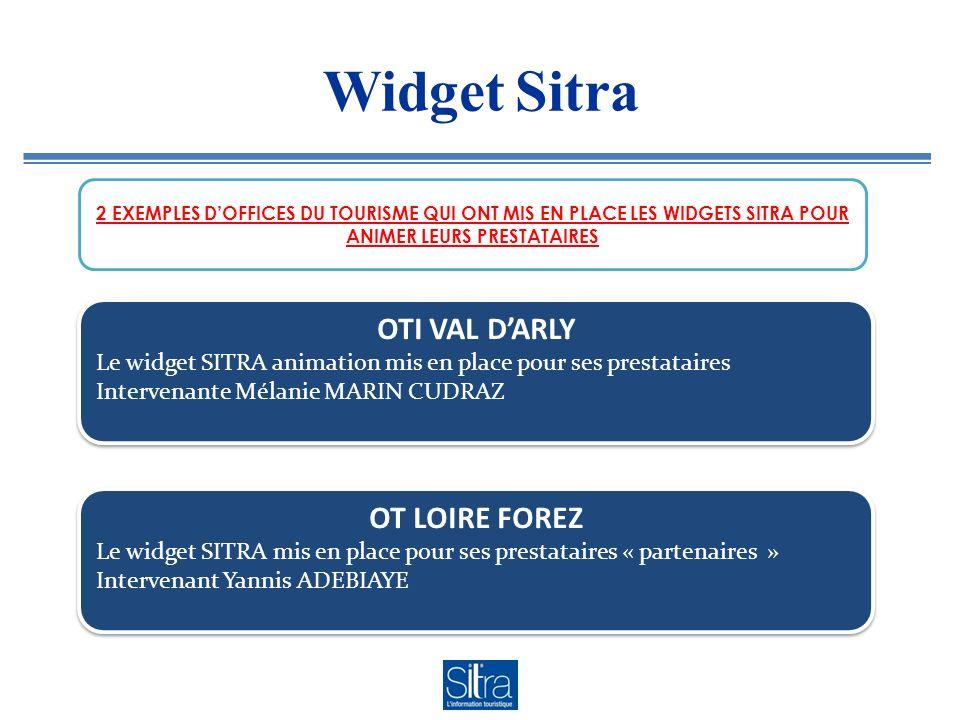 WidgetSitra 2 EXEMPLES DOFFICES DU TOURISME QUI ONT MIS EN PLACE LES WIDGETS SITRA POUR ANIMER LEURS PRESTATAIRES OTI VAL DARLY Le widget SITRA animat