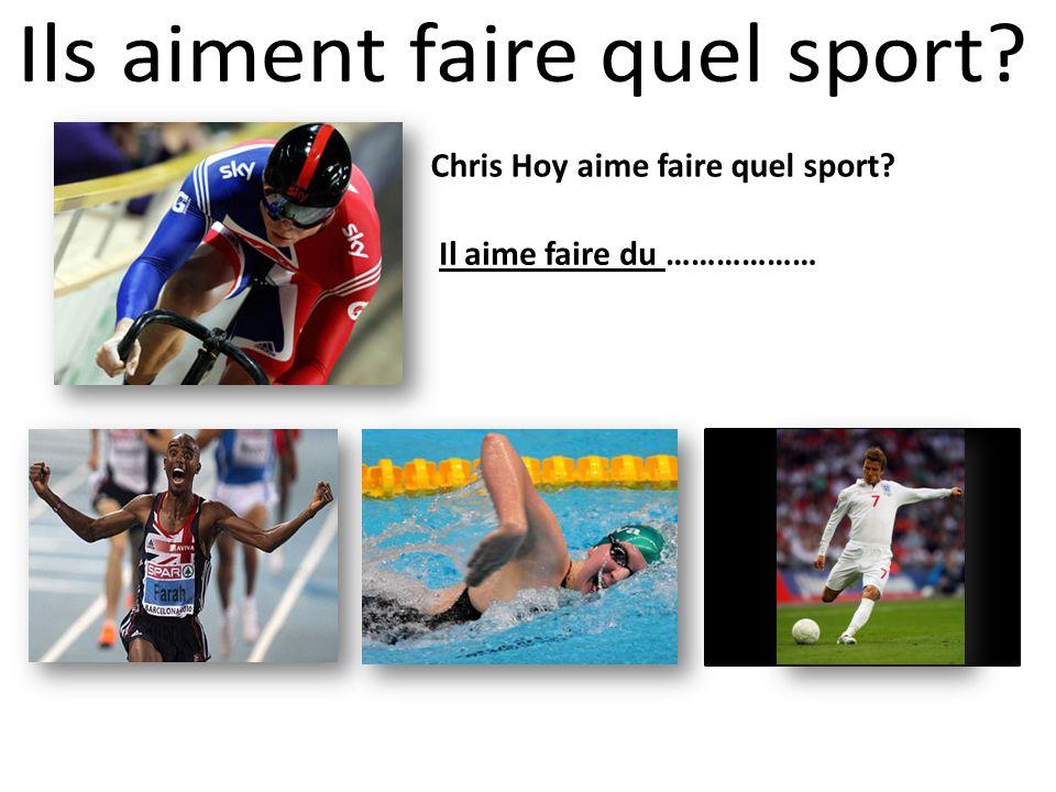 Chris Hoy aime faire quel sport? Il aime faire du ………………