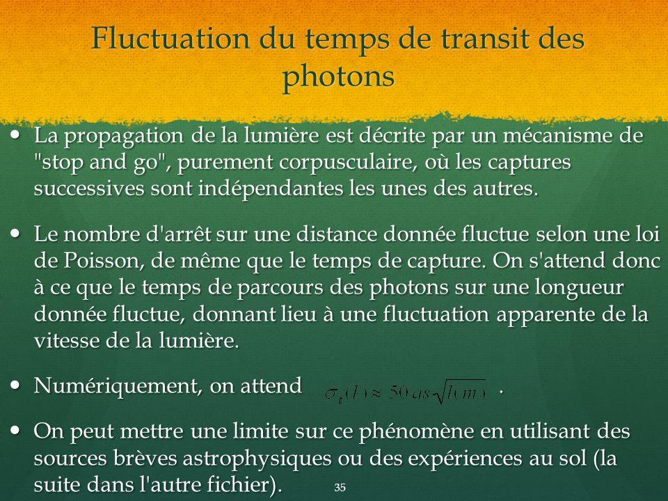 La propagation de la lumière est décrite par un mécanisme de