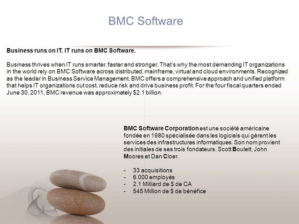 BMC has taken the leadership step of combining its ECA product with its BSM product.