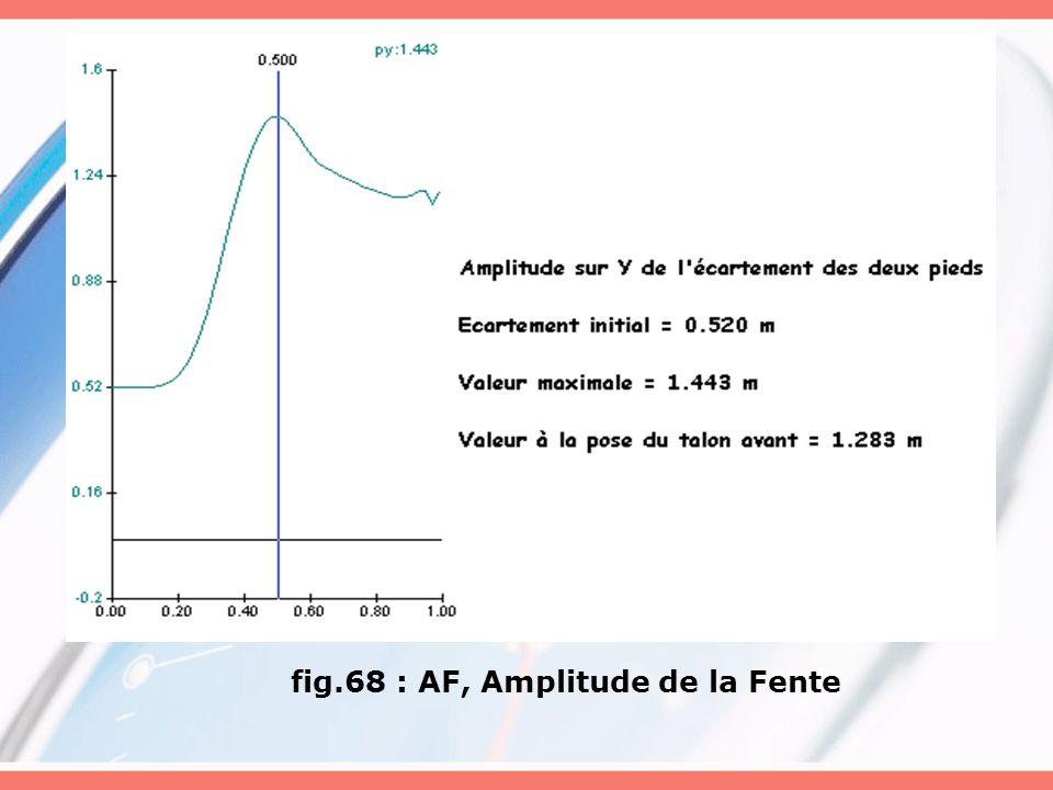 fig.68 : AF, Amplitude de la Fente