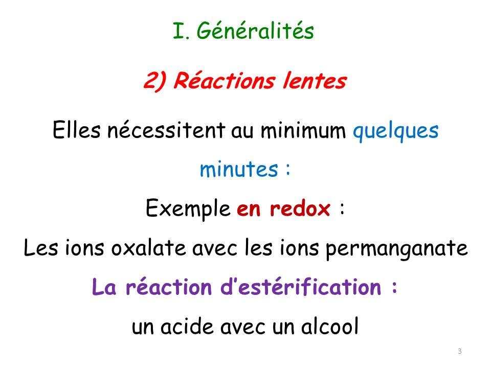 Les facteurs expérimentaux susceptibles dinfluencer la vitesse de réaction sont : – la température – la concentration des constituants – la présence de catalyseur (composé nintervenant pas dans le bilan de la réaction) – parfois, la pression 4 II.