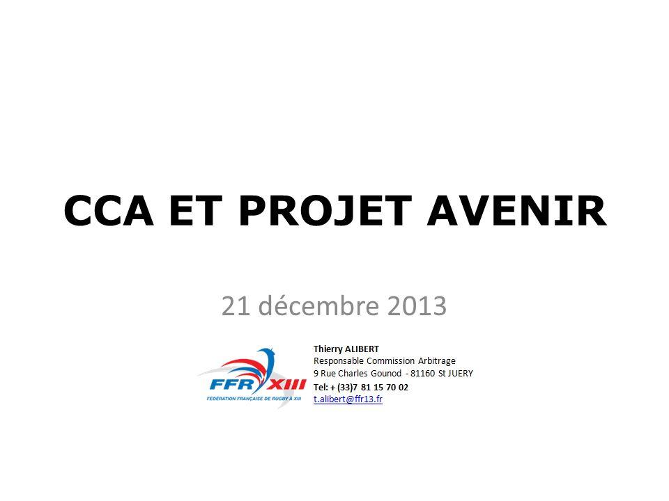 CCA ET PROJET AVENIR 21 décembre 2013