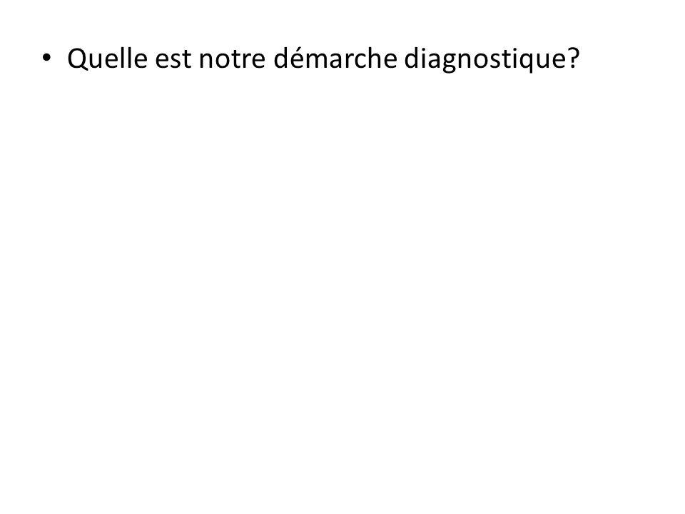 Quelle est notre démarche diagnostique?