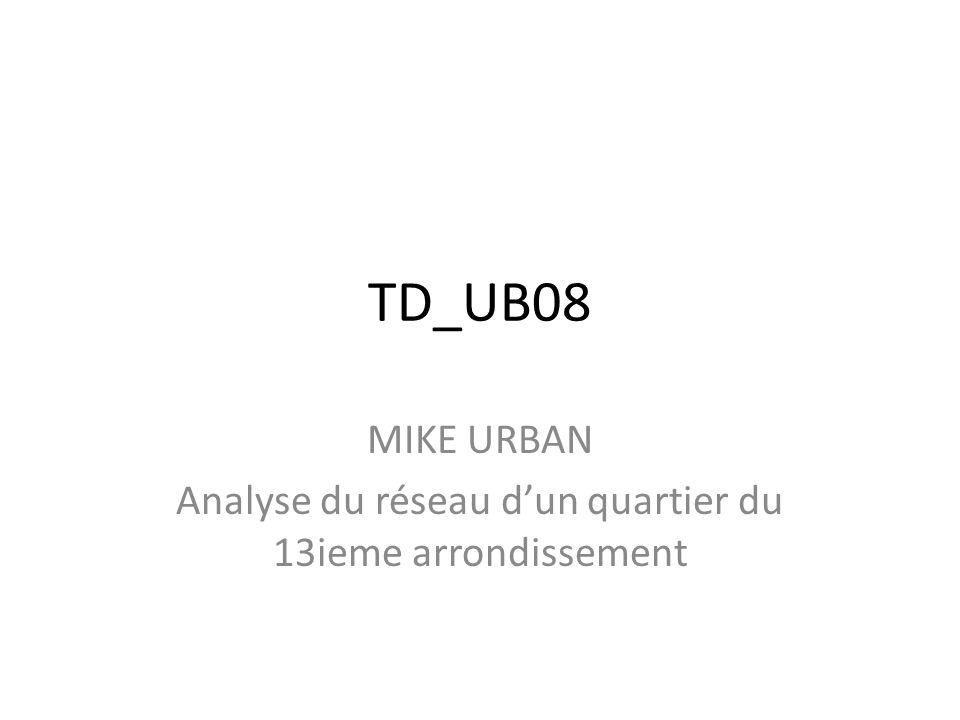 TD_UB08 MIKE URBAN Analyse du réseau dun quartier du 13ieme arrondissement