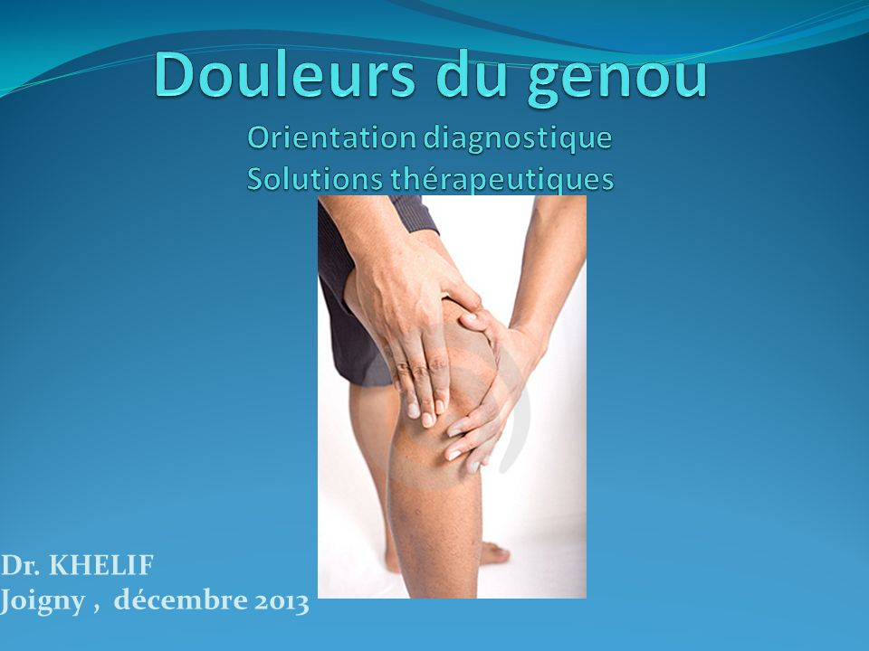 Signes cliniques Grinding Mc Murray Oudard