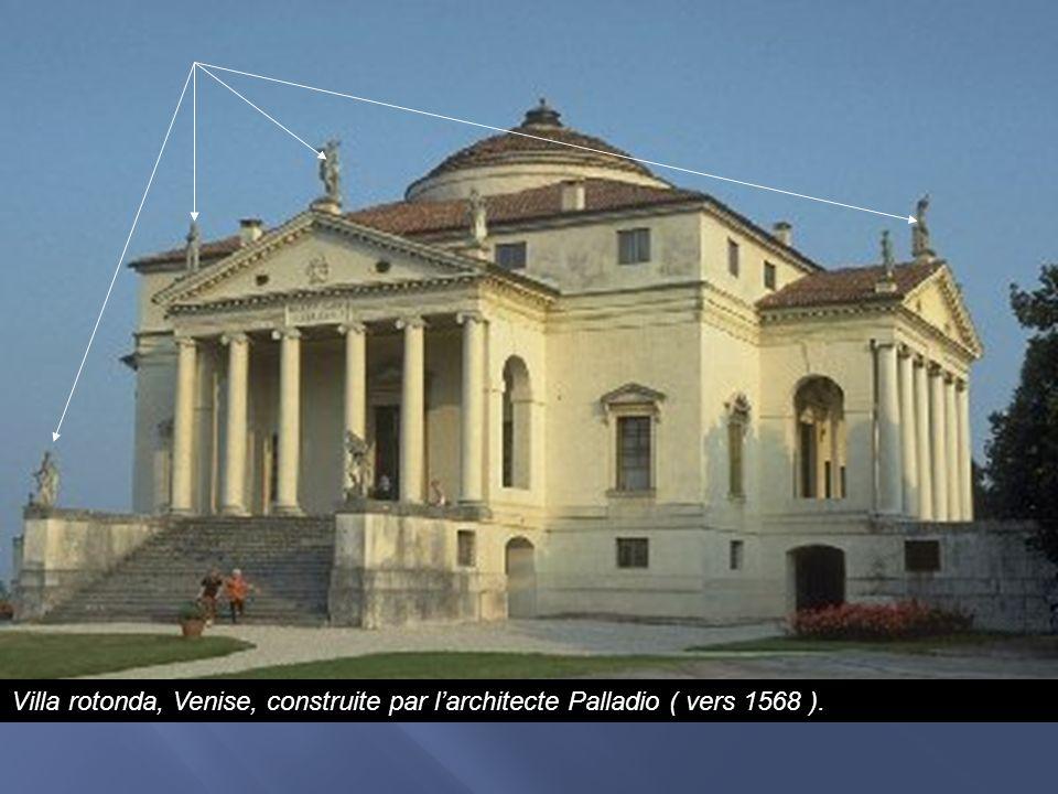 Villa rotonda, Venise, construite par larchitecte Palladio ( vers 1568 ).