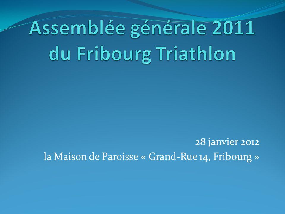 Comptes Triathlon Fribourg 2010
