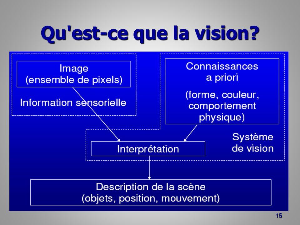 Qu est-ce que la vision? 15