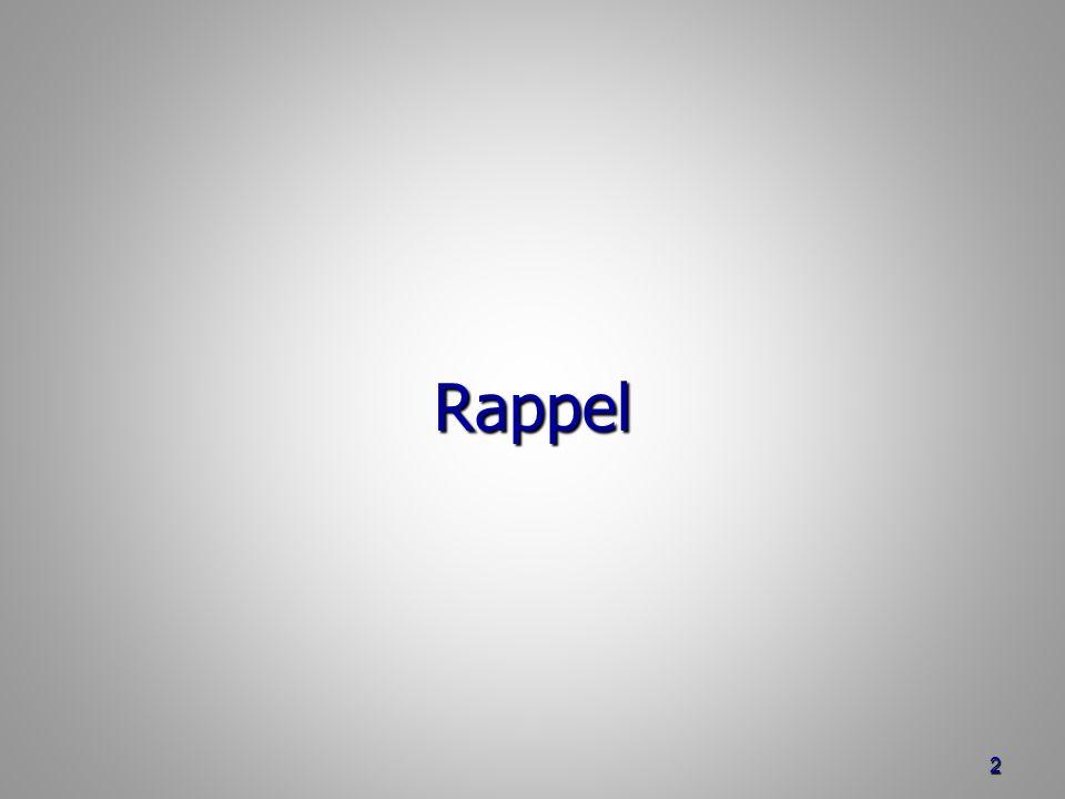 Rappel 2