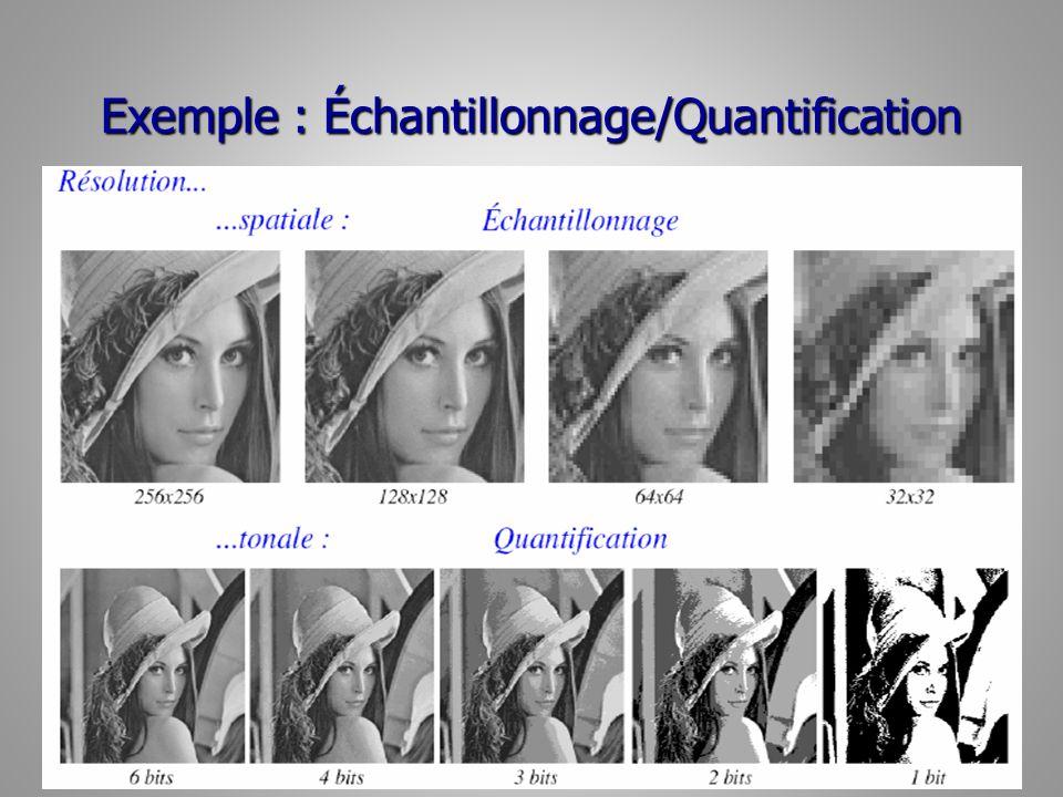 Exemple : Échantillonnage/Quantification 31