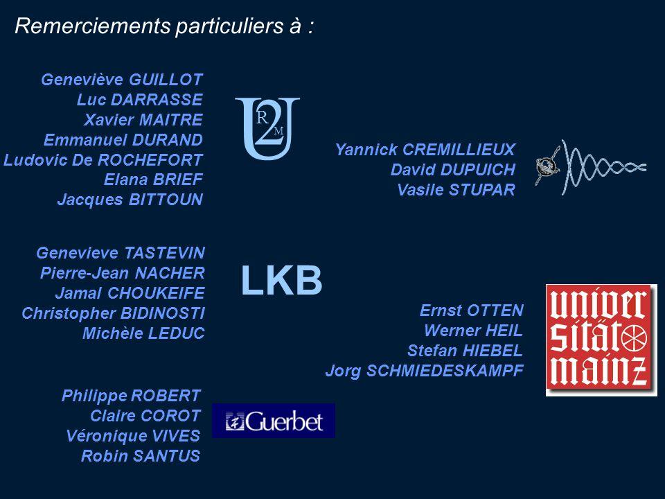 Remerciements particuliers à : Geneviève GUILLOT Luc DARRASSE Xavier MAITRE Emmanuel DURAND Ludovic De ROCHEFORT Elana BRIEF Jacques BITTOUN Genevieve
