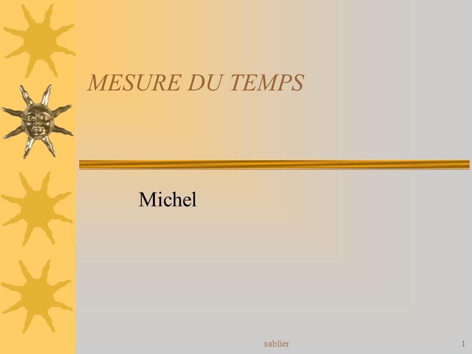 sablier1 MESURE DU TEMPS Michel