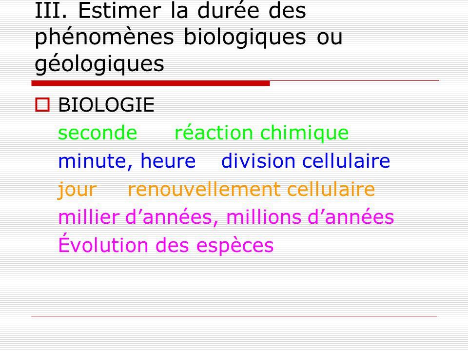 2) La datation des évènements biologiques ou géologiques Exemple dater la formation de la Terre : aperçu historique.