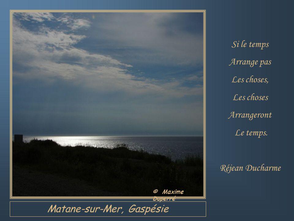 Cap-Chat, Gaspésie Le seul temps Vraiment perdu Est celui Quon passe À regretter Les occasions Manquées.