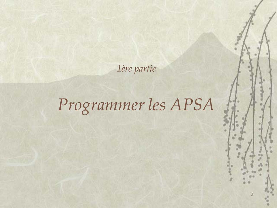 2 1ère partie Programmer les APSA