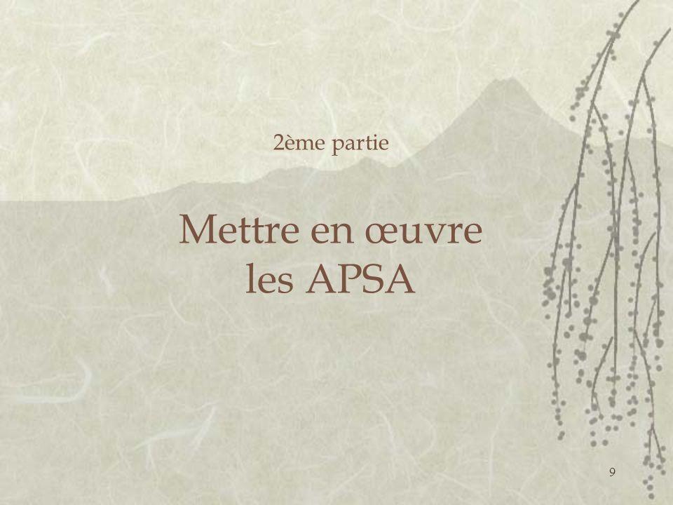 9 2ème partie Mettre en œuvre les APSA