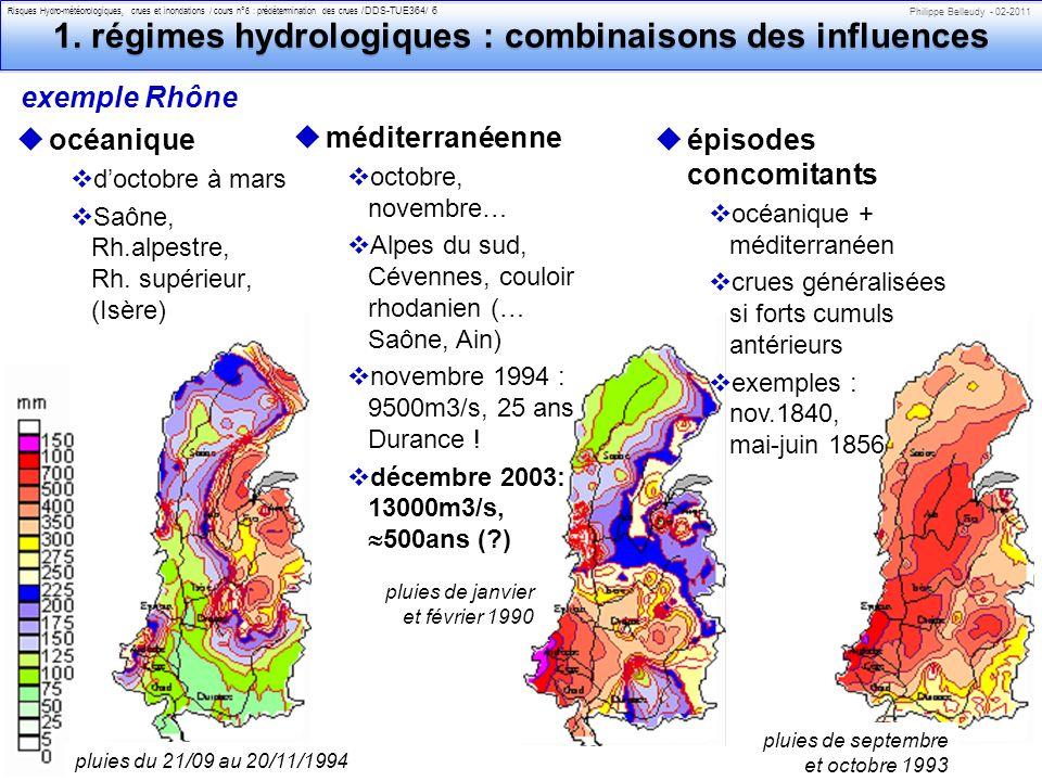 Philippe Belleudy - 02-2011 Risques Hydro-météorologiques, crues et inondations / cours n°6 : prédétermination des crues /DDS-TUE364/ 7 1.