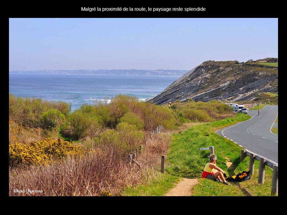 .. Panorama sur locéan depuis la crique des viviers Basques