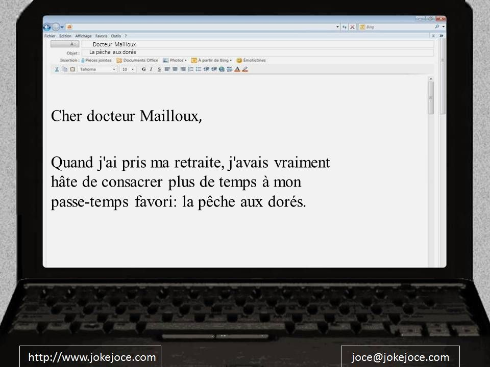 Docteur Mailloux La pêche aux dorés