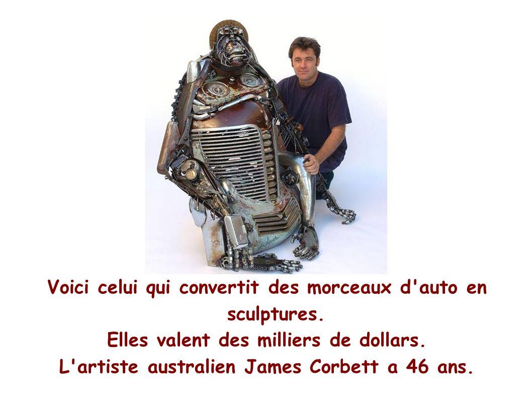 Voici celui qui convertit des morceaux d auto en sculptures.