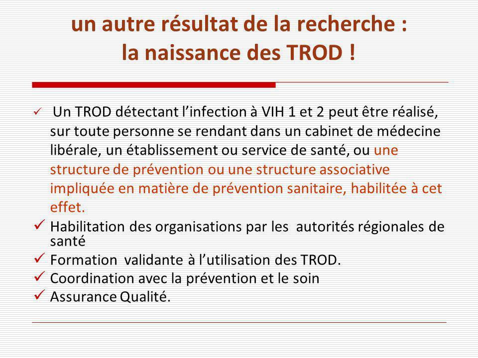 un autre résultat de la recherche : la naissance des TROD .