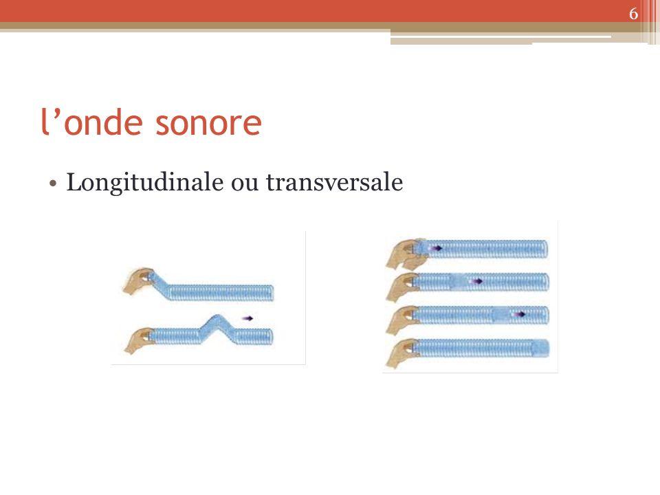 londe sonore Longitudinale ou transversale 6