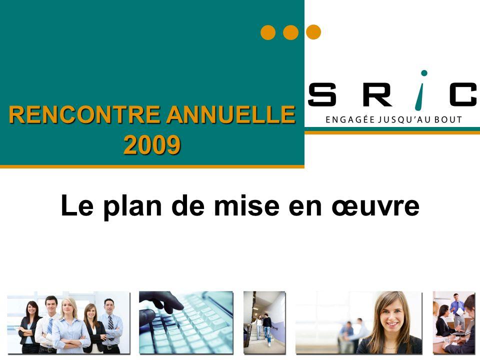 RENCONTRE ANNUELLE 2009 Le plan de mise en œuvre