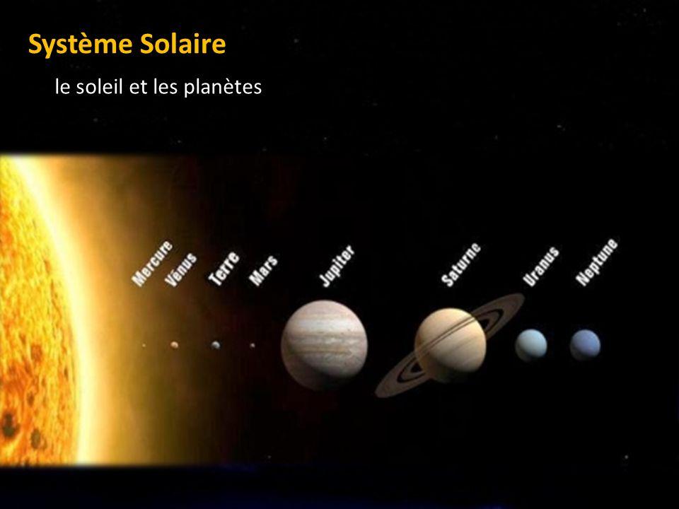 le soleil et les planètes Système Solaire