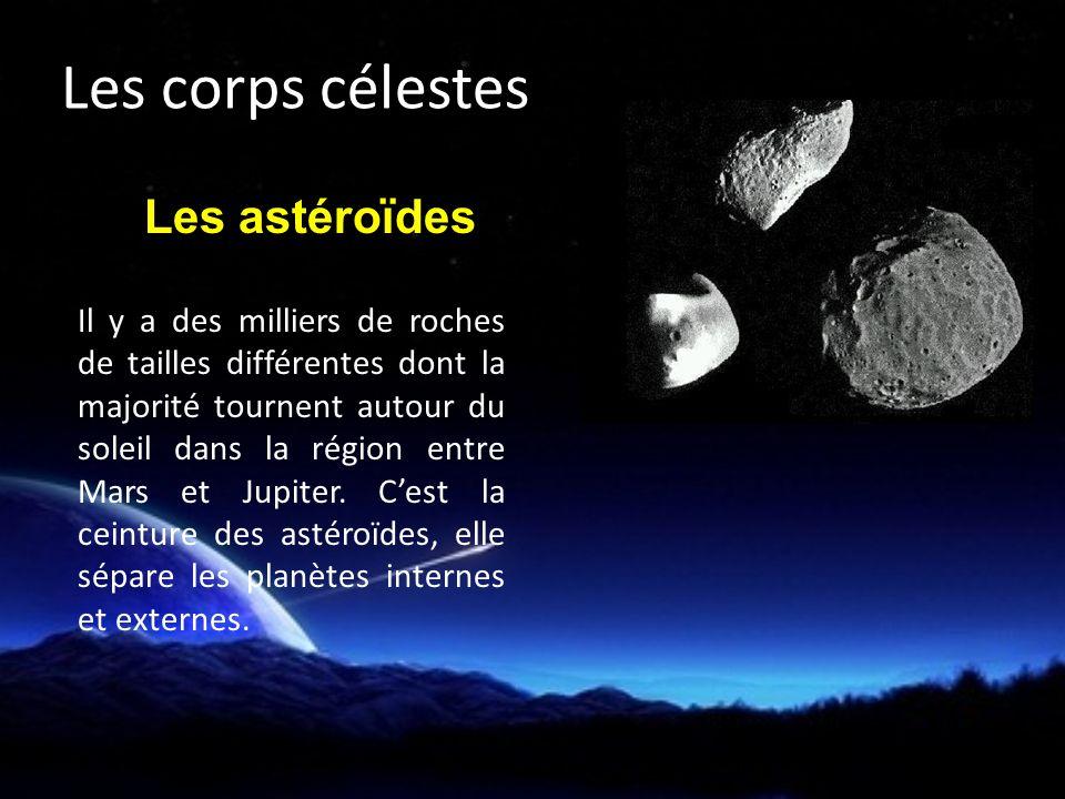 Il y a des milliers de roches de tailles différentes dont la majorité tournent autour du soleil dans la région entre Mars et Jupiter.