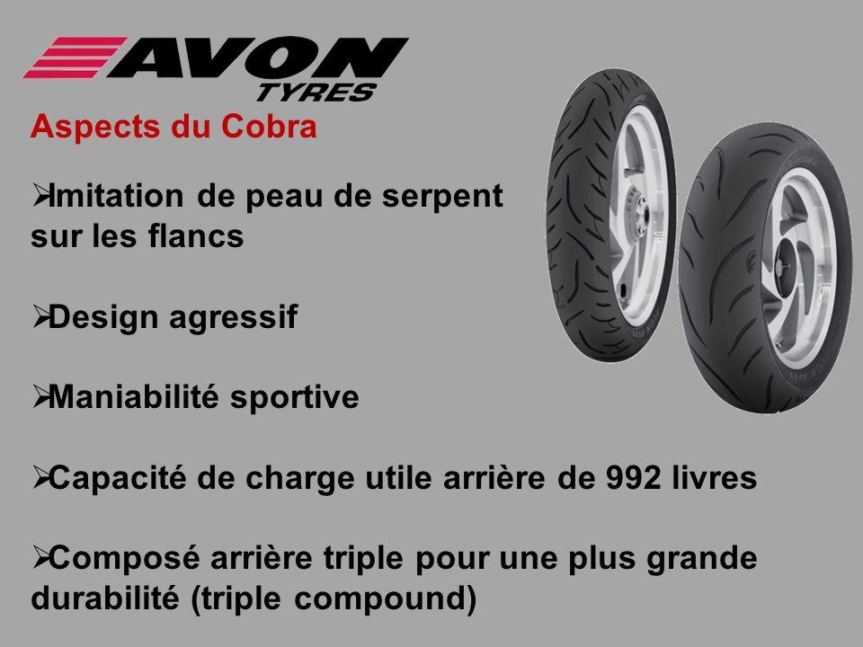 Aspects du Cobra Imitation de peau de serpent sur les flancs Design agressif Maniabilité sportive Capacité de charge utile arrière de 992 livres Compo
